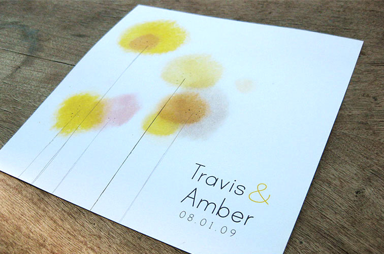 Travis & Amber Wedding Invitations